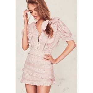 LOVESHACKFANCY Sutton Dress M Rosemist pink Floral
